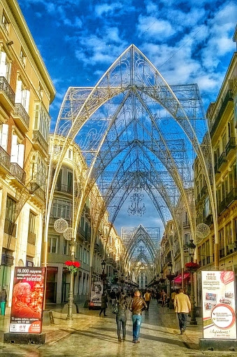 Malaga in kerstsferen