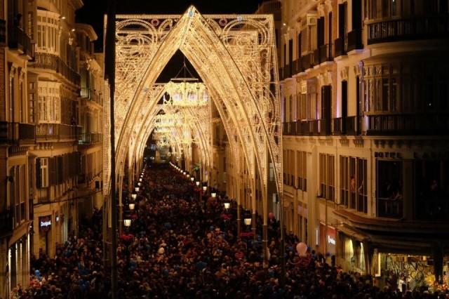 Kerstverlichting Malaga 2014