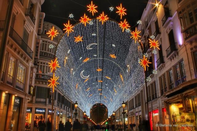 Malaga Kerstverlichting 2015