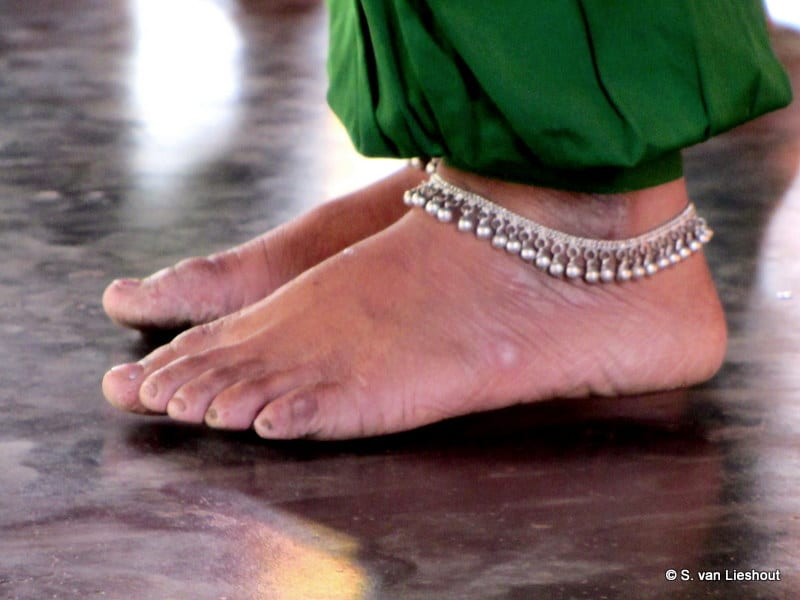 voeten van een danseres