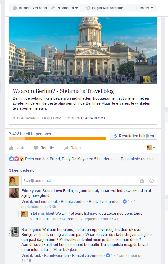 Berlijn Facebook comment