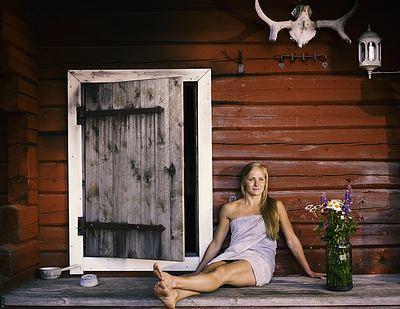 Het Finse old boy network Sauna Foto Visit Finland