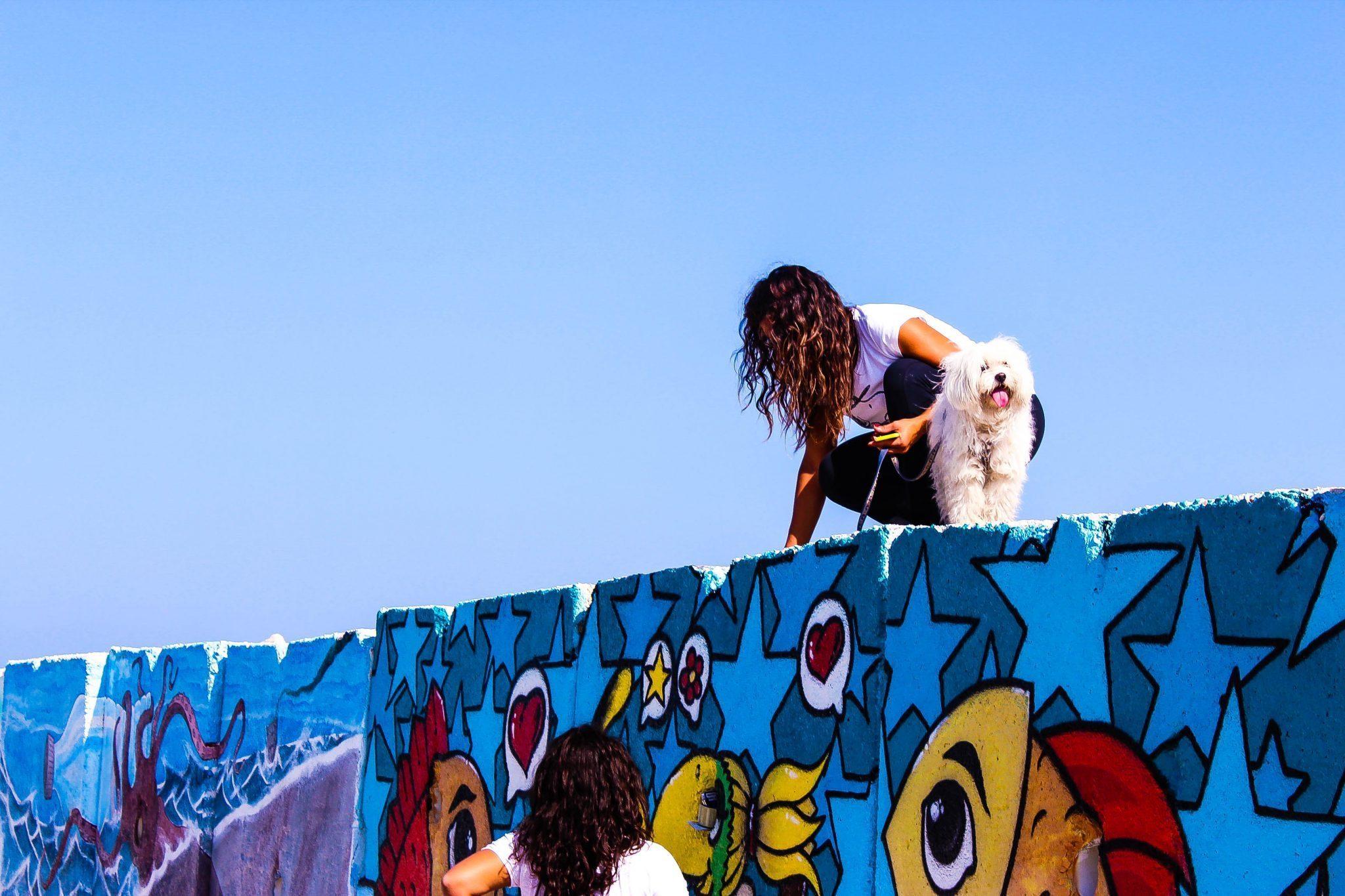 De kunst staat onder water in Italië