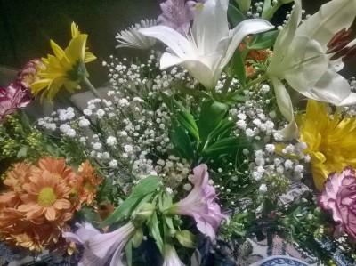 En een bos bloemen