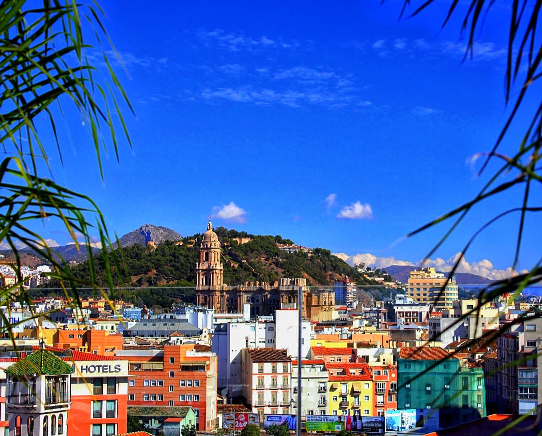 Het dakterras van de Corte Inglés in Malaga