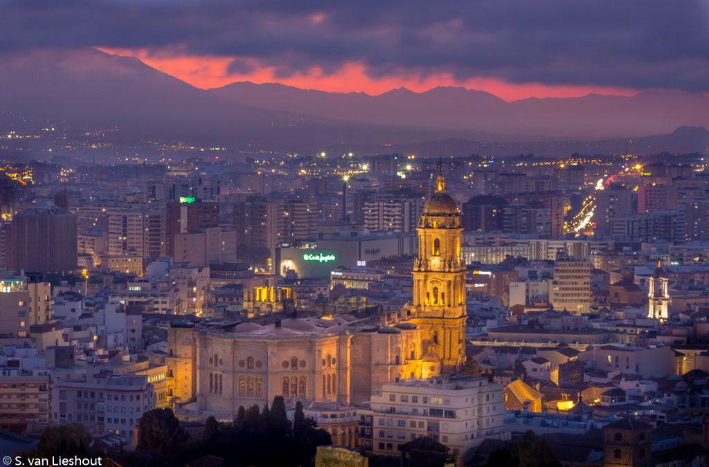 Uitzicht op de eenarmige kathedraal van Malaga