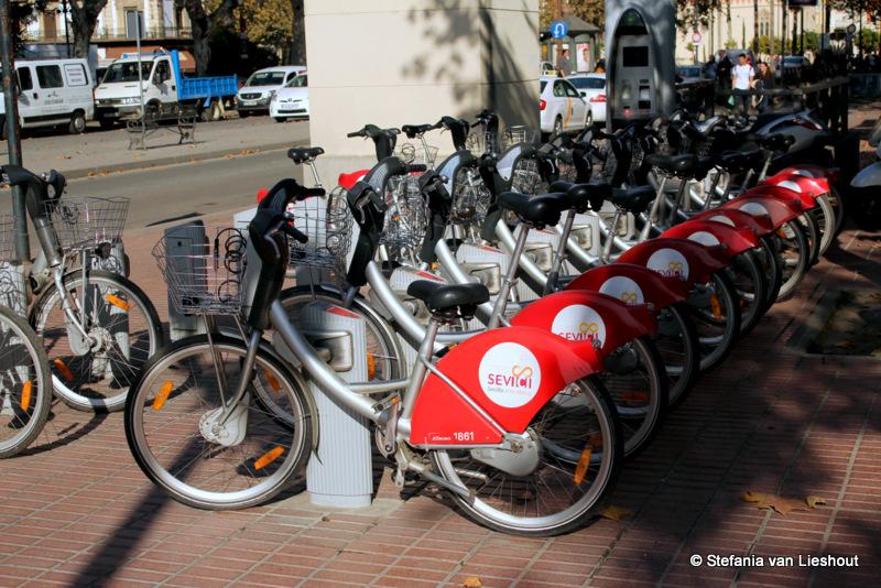 Sevilla op de fiets