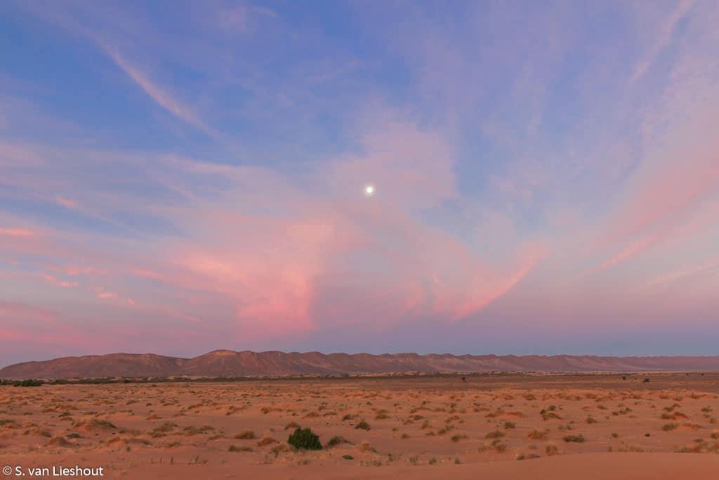 Sahara Marokko zonsondergang