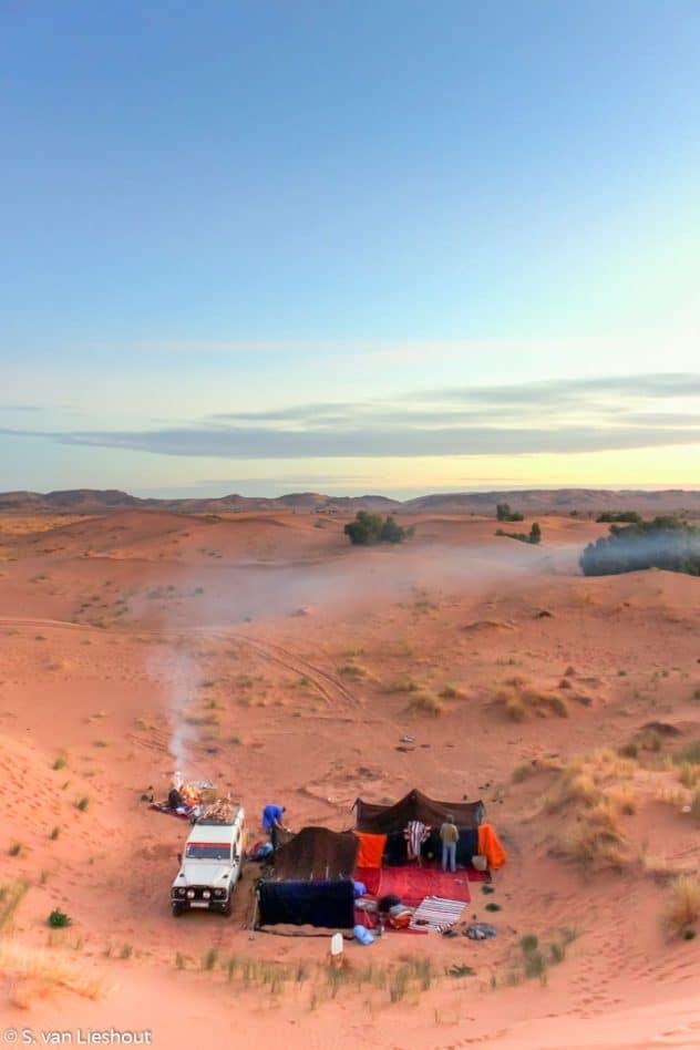 Sahara Marokko tent
