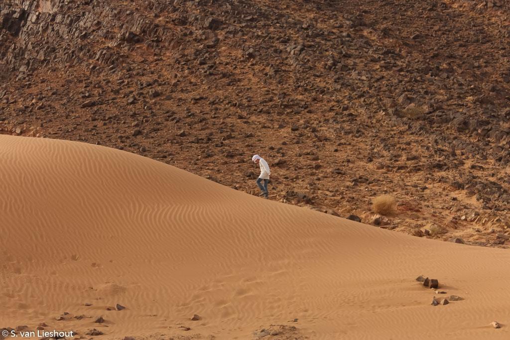 brandende zon Sahara