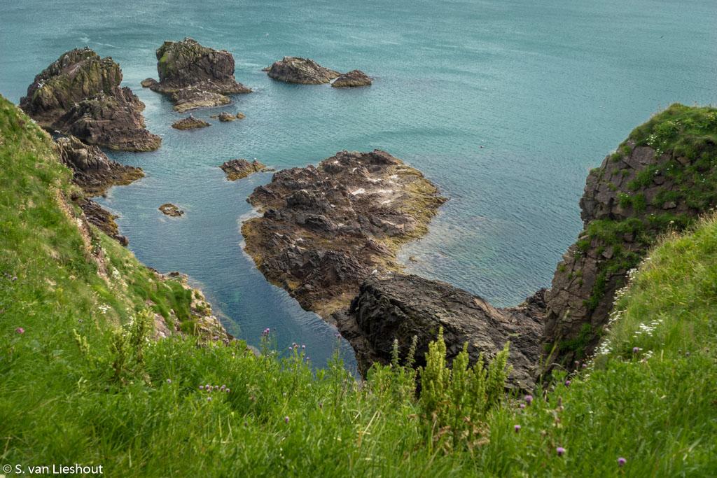 Cliffs Slains Castle