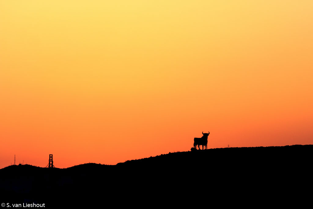 zonsondergang Spanje
