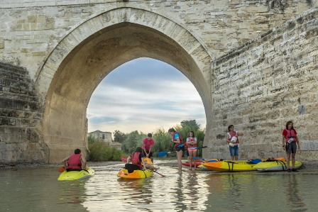 Cordoba, kayaking into the sunset