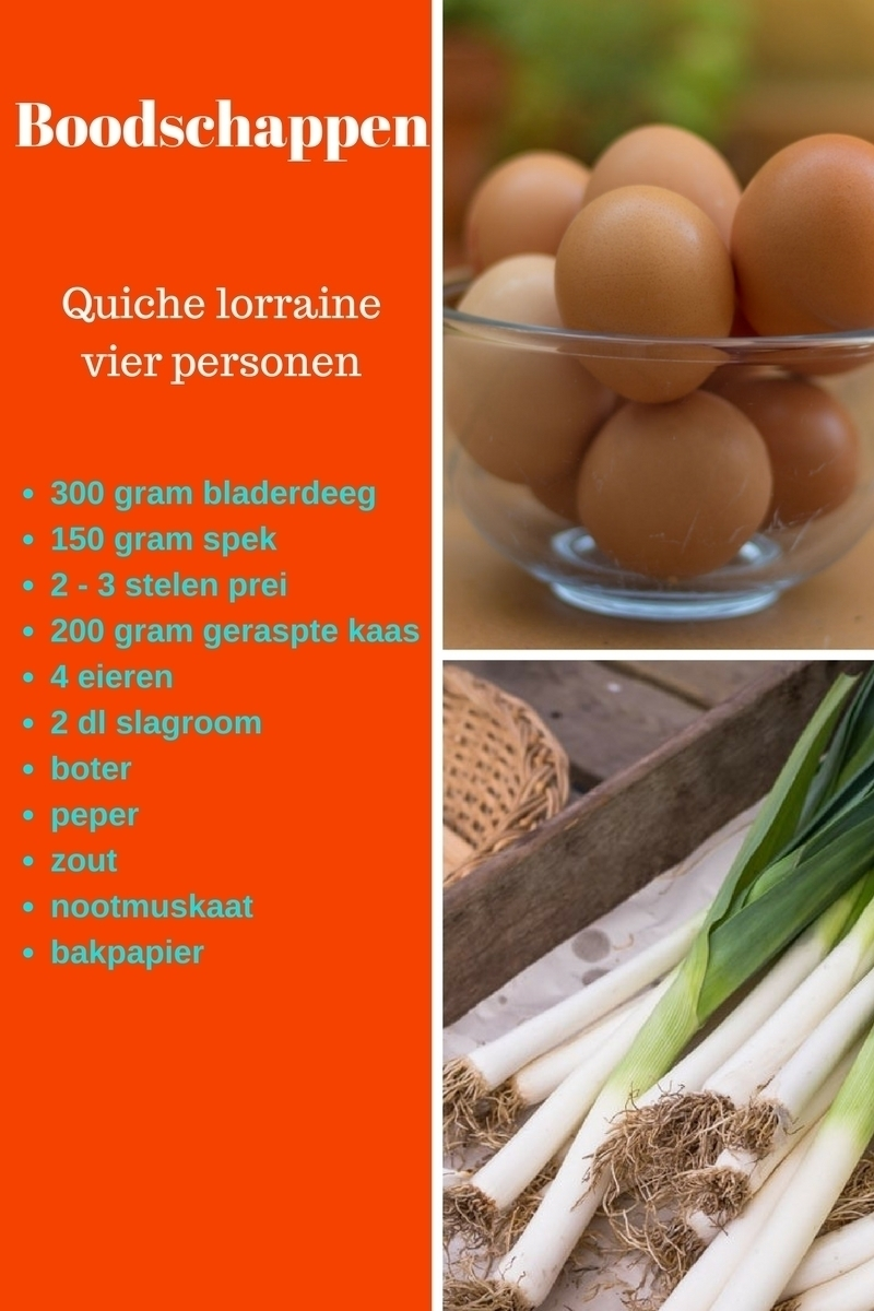Ingredienten quiche