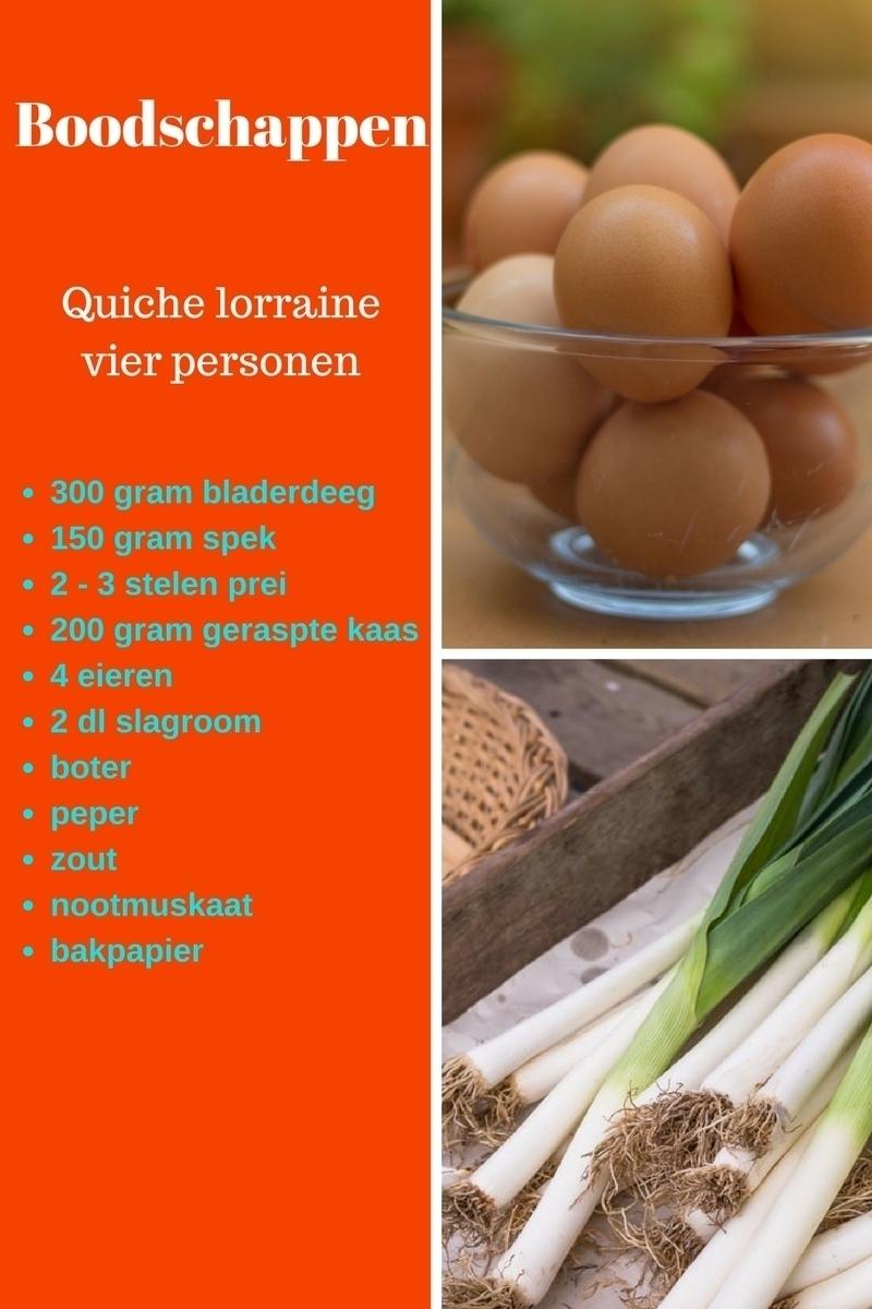 Ingredienten quiche