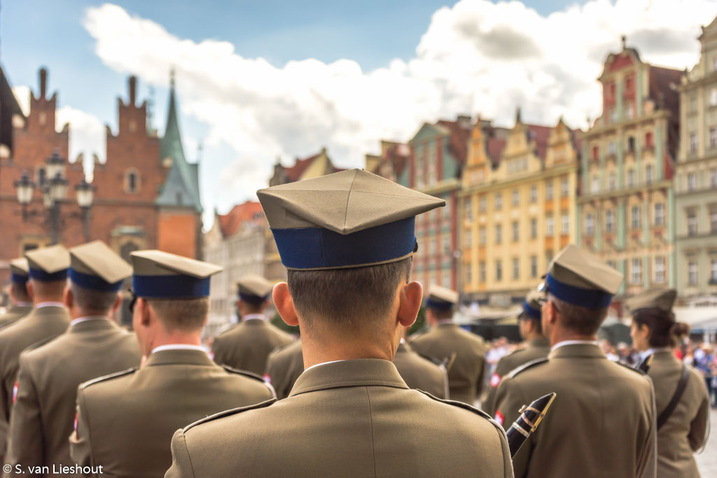 Wroclaw military parade 15th augustus