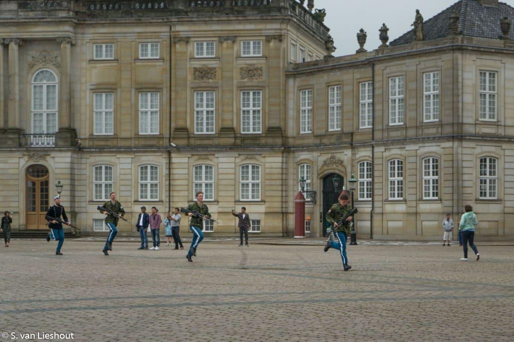 Amalienborg royal palace Copenhagen
