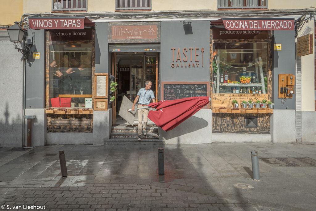 Straatbeeld Madrid