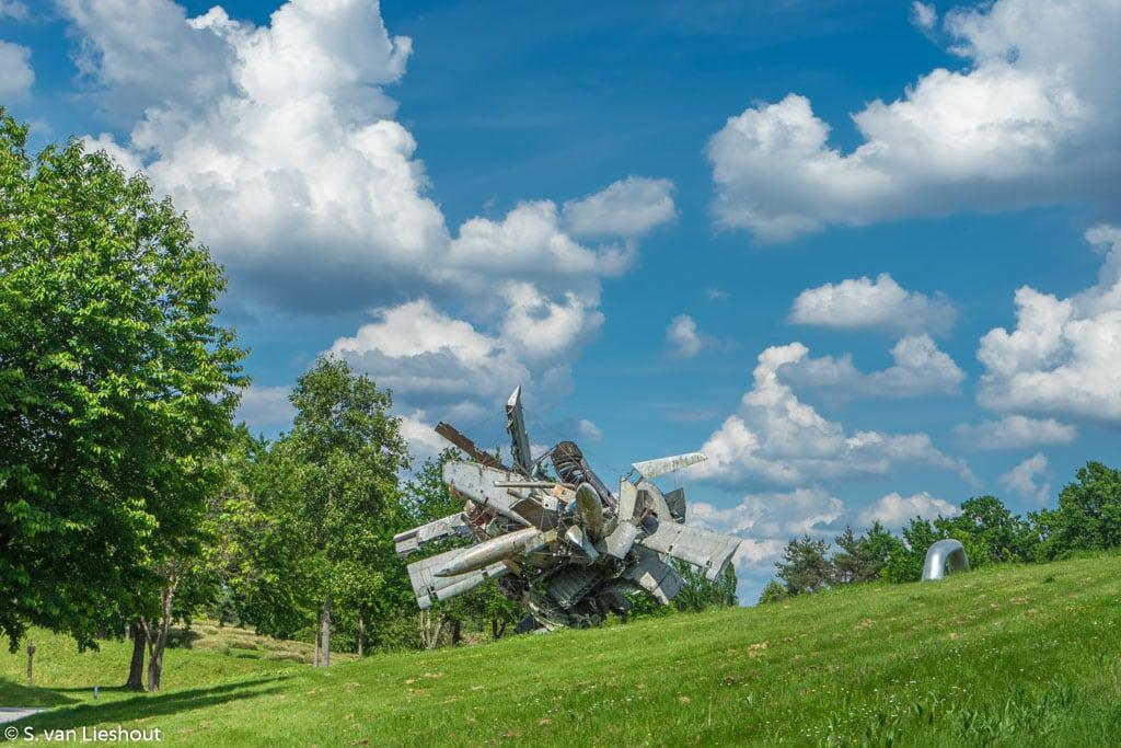 Sculptuurpark Graz vliegtuig