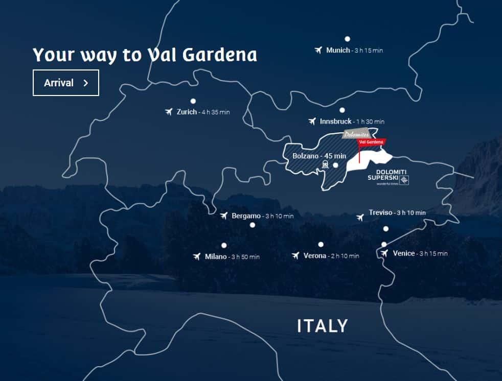 kaart Val Gardena
