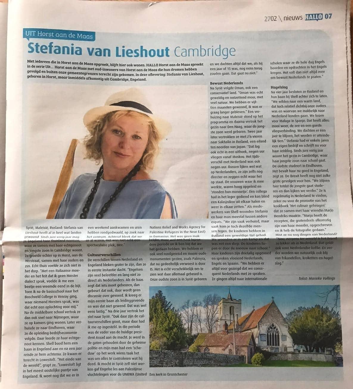 Interview Hallo Horst Stefania van Lieshout