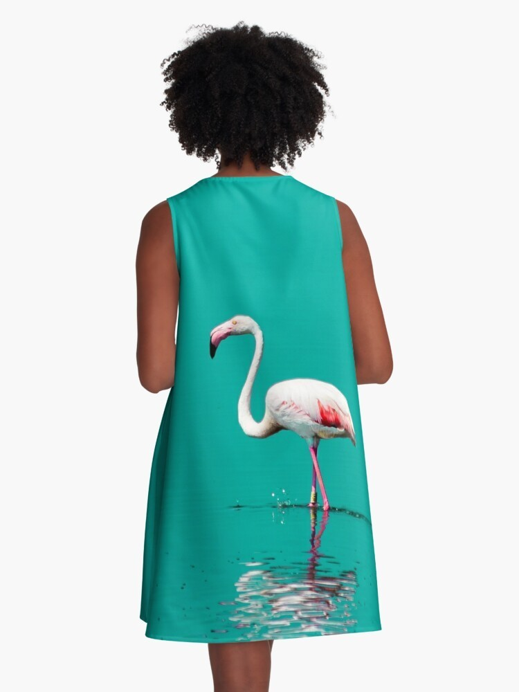 A-line dress flamingo
