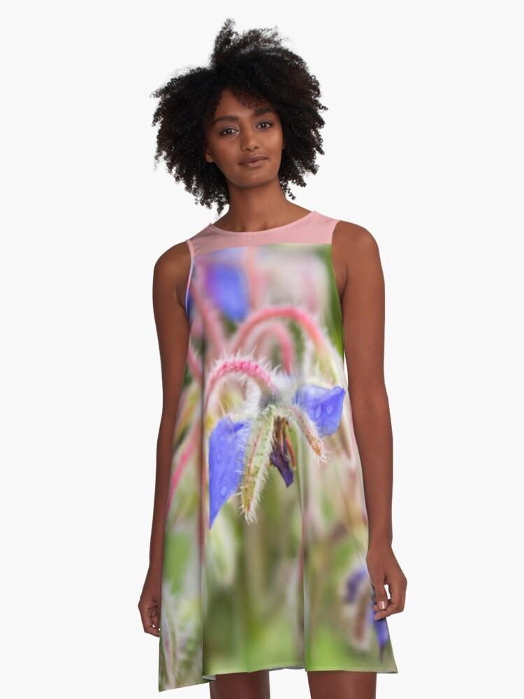 A-line dress flower
