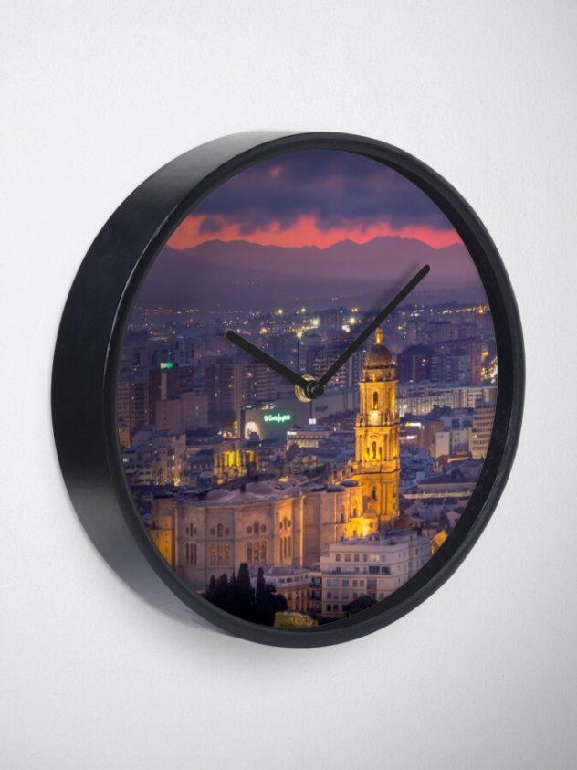 clock Malaga cathedral