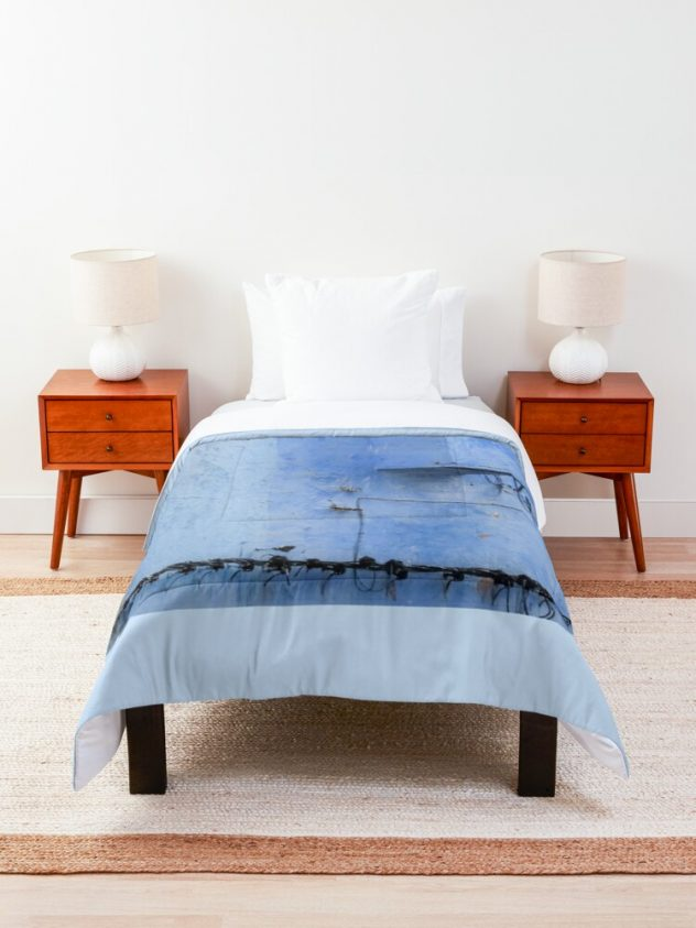 comforter feeling blue