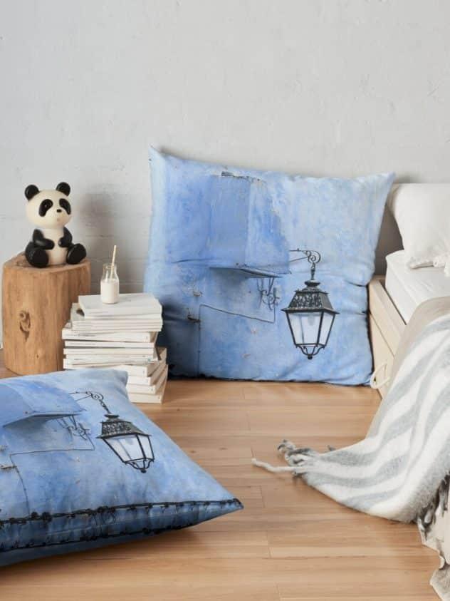 floor pillow feeling blue