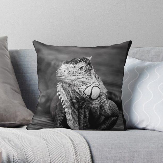 throw pillow Iguana
