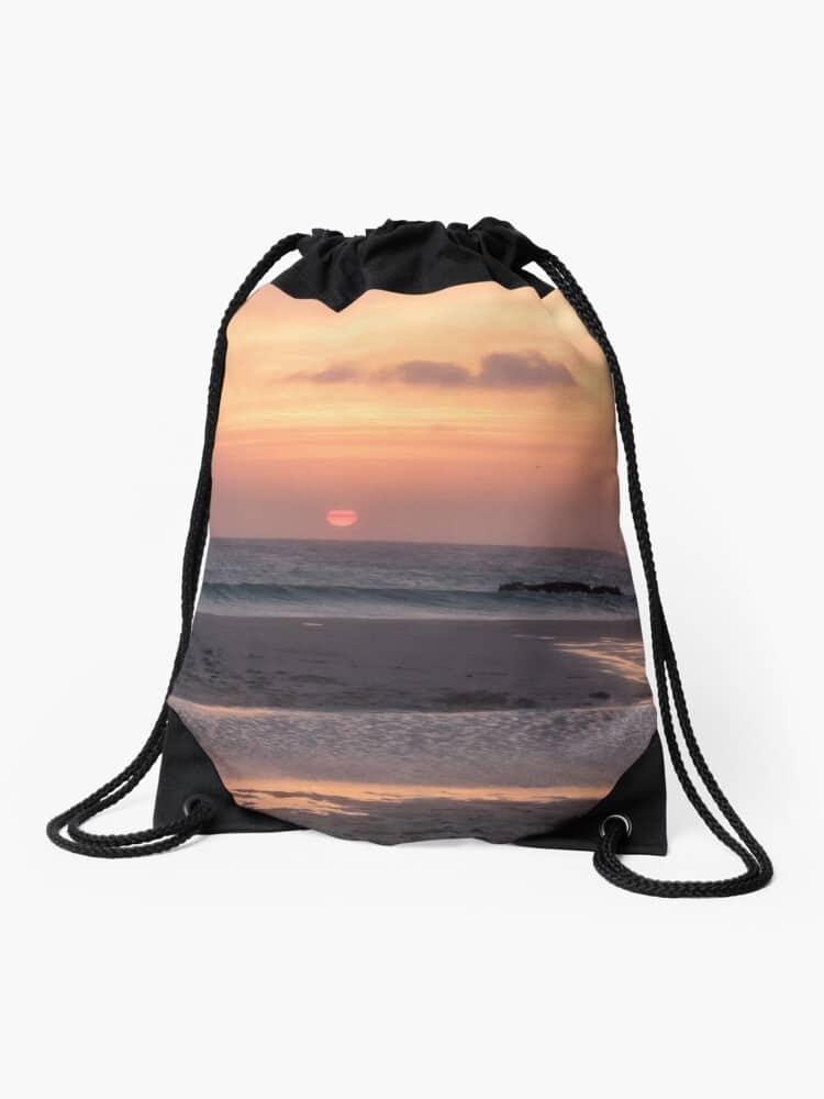 drawstring bag sunset tarifa