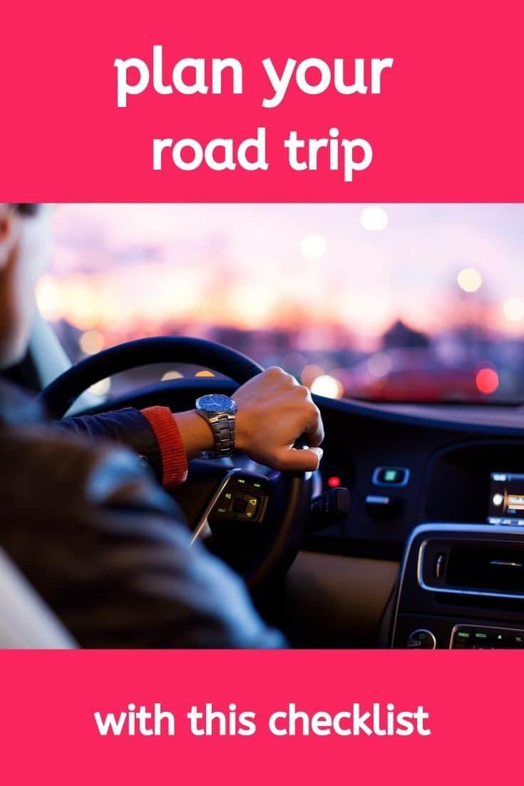 checklist road trip