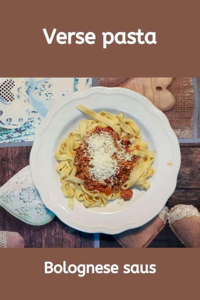Verse pasta recept met Bolognese saus